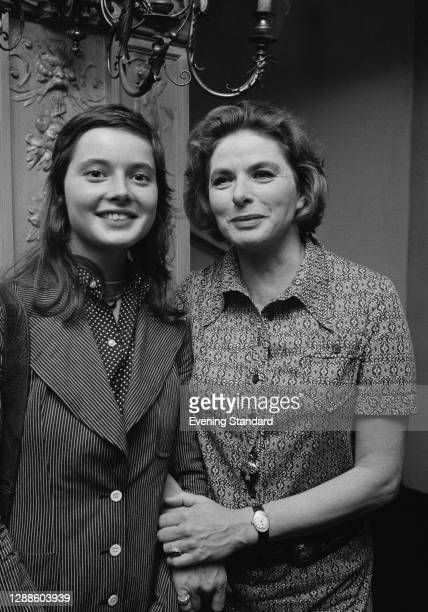 Swedish actress Ingrid Bergman with her daughter, actress Isabella Rossellini, UK, 1971.