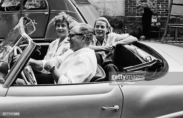 Swedish actress Ingrid Bergman with her husband, theatrical entrepreneur Lars Schmidt, and Ingrid's daughter, television journalist Pia Lindström,...