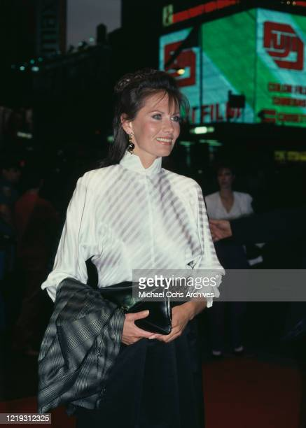 Swedish actress Maud Adams attends the premiere of 'Octopussy' at the RKO National Theater in New York City New York 9th June 1983