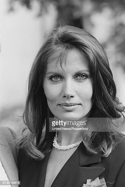 Swedish actress Maud Adams posed at a press call to promote the James Bond film Octopussy in London on 1st June 1983