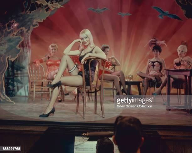 Swedish actress May Britt in a scene from the film 'The Blue Angel' 1959