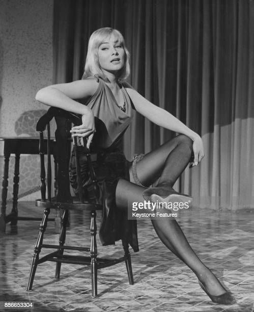 Swedish actress May Britt in the role of LolaLola in the 1959 remake of the classical 1930 film 'The Blue Angel'
