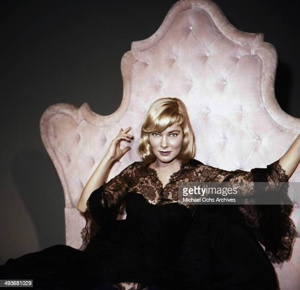 Swedish actress May Britt poses at Fox Studios in Los Angeles California