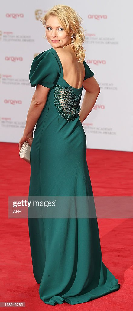 Swedish actress MyAnna Buring poses on the red carpet as she arrives at the British Academy Television Awards in London on May 12, 2013.