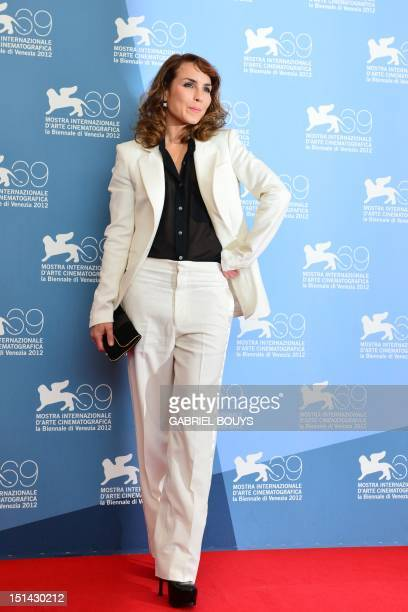 Swedish actress Noomi Rapace poses during the photocall of Passion during the 69th Venice Film Festival on September 7 2012 at Venice Lido Passion is...