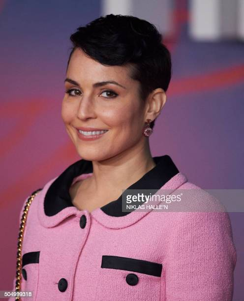 Swedish actress Noomi Rapace poses on arrival for the premiere of the film 'The Revenant' in London on January 14 2016 AFP PHOTO / NIKLAS HALLE'N /...