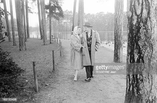 Swedish Actress Ulla Jacobsson In Paris Avec son mari Hans Rohsmann