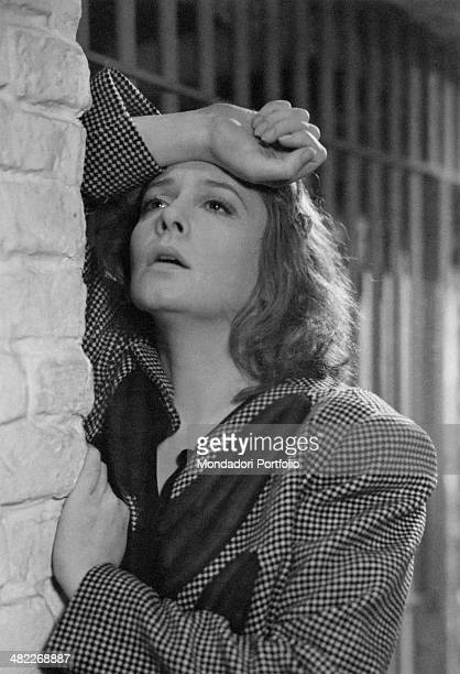 Swedish actress Zarah Leander in a scene from the movie At That Time by German director Rolf Hansen dressing the part of Vera Meiners she is...