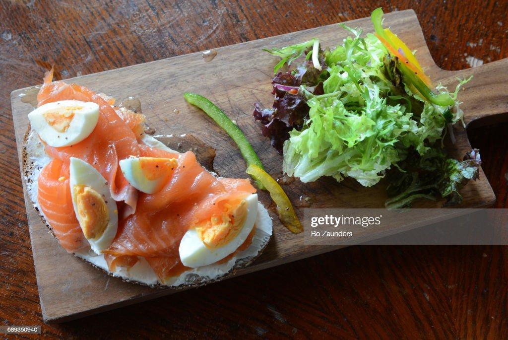 Swedish appetizer at Akva : ストックフォト