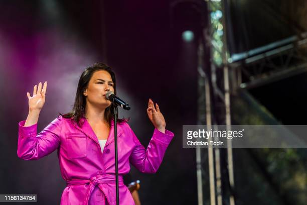 Swedish artist Molly Hammar during opening ceremony for the European Athletics U20 Championships Boras 2019 on July 17 2019 in Boras Sweden