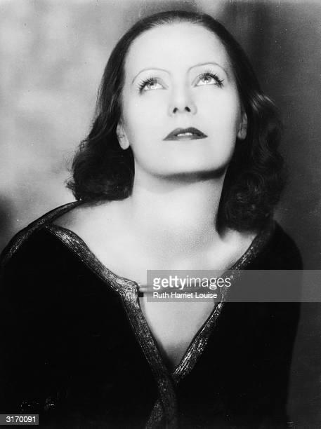 Swedish born American actress Greta Garbo .