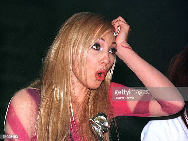 Swedish Charlotte Nilsson Rejoices During An Encore In Jerusalem Earlier Sunday May 30 1999 After Winning The Eurovision Song Contest With The Entry...