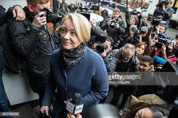 Swedish chief prosecutor Ingrid Isgren arrives at the Embassy of Ecuador to question Wikileaks founder Julian Assange on November 14, 2016 in London,...