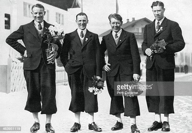 Swedish crosscountry ski team Winter Olympic Games GarmischPartenkirchen Germany 1936 Sweden took the first four places in the 50km Men's...