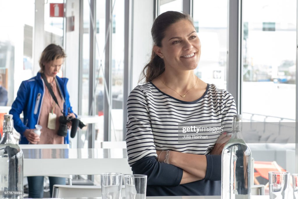 Crown Princess Victoria Of sweden Attends ProAm Race at Volvo Ocean Race : News Photo