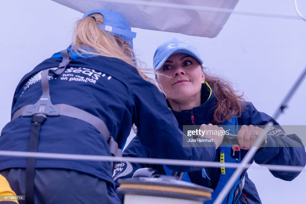Crown Princess Victoria Of sweden Attends ProAm Race at Volvo Ocean Race
