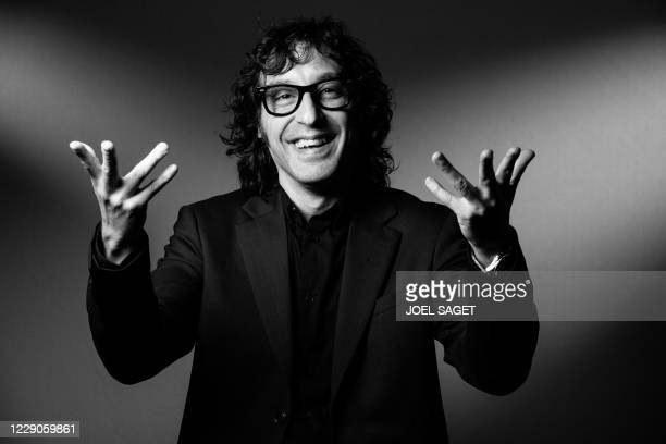 Swedish director and musician Amir Chamdin poses for a photo session during the 3rd edition of the Cannes International Series Festival in Cannes,...