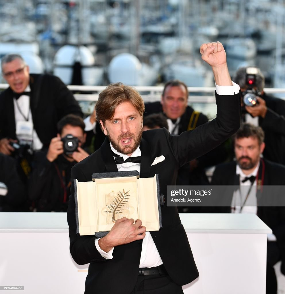 Swedish director Ruben Ostlund poses during the Award Winners photocall after he won the Palme d'Or Prize for the film The Square at the 70th annual Cannes Film Festival in Cannes, France on May 28, 2017.