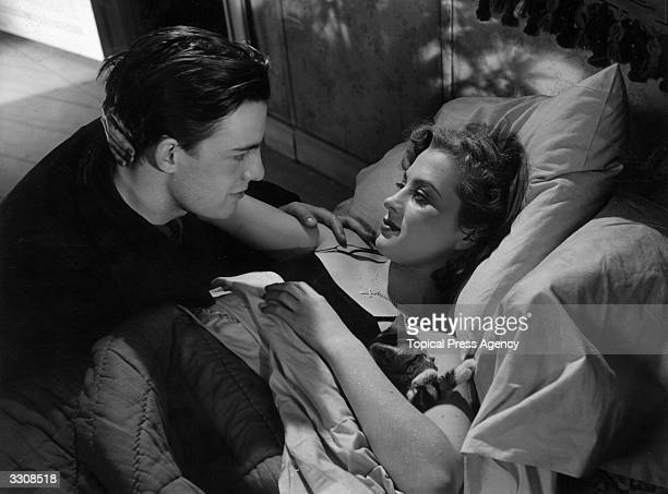 Swedish director screenwriter and actress Mai Zetterling stars opposite Alf Kjellin in the film 'Hets' written by Ingmar Bergman The film was...