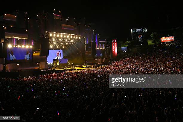 Swedish DJ Avicii performs at Rock in Rio Lisboa 2016 music festival in Lisbon Portugal on May 29 2016