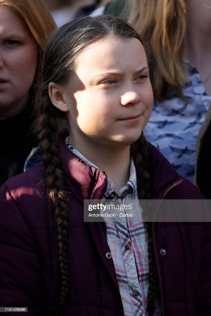 FRA: Teenage Swedish Activist Greta Thunberg Joins Young People Marching Against Climate Change