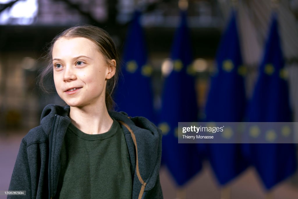 Swedish Environmental Activist On Climate Change Greta Thunberg : News Photo