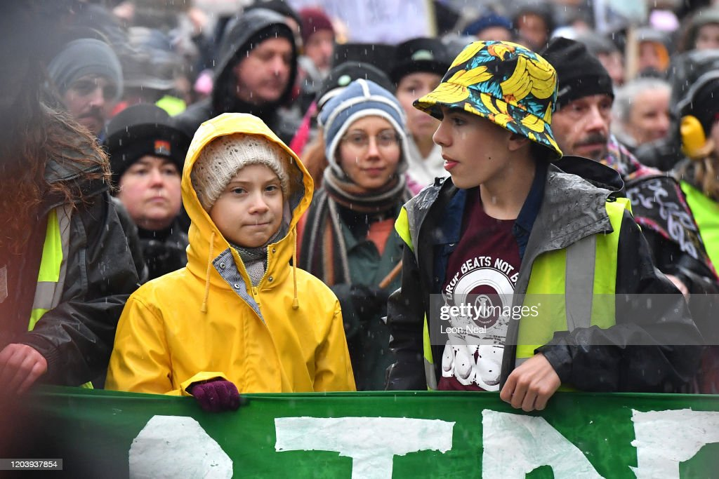Greta Thunberg Joins Student Climate Activists On Bristol Strike : News Photo