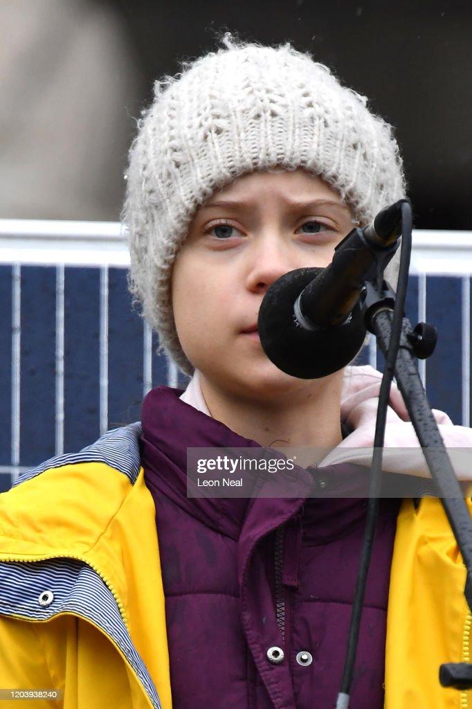 Greta Thunberg Joins Student Climate Activists On Bristol Strike : News Photo