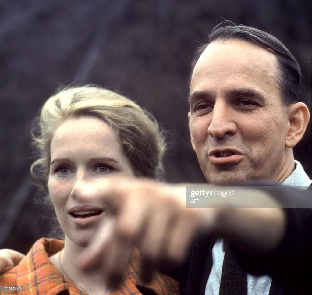 Swedish film-making legend and theater director Ingmar Bergman and Norvegian actress Liv Ulmann pictured in the 1960s in Stockholm during a theater rehearsel.