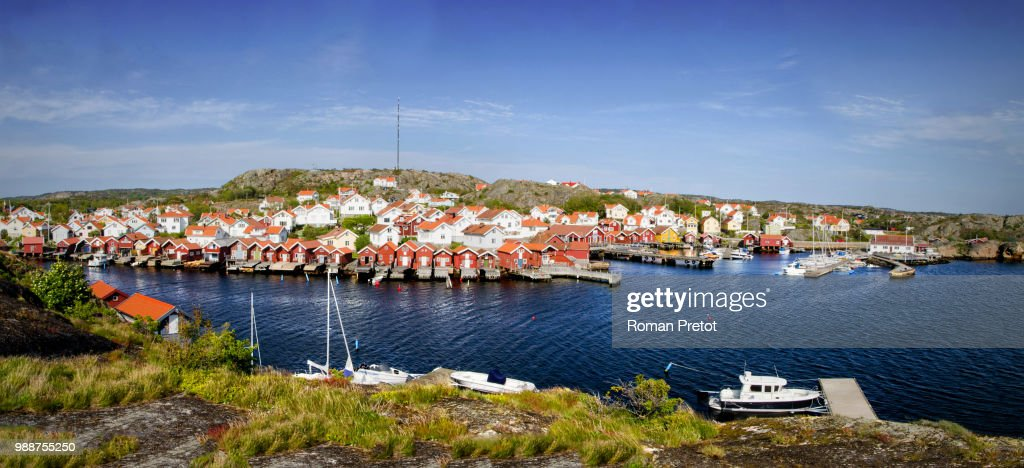 Swedish fishing village : Stock Photo