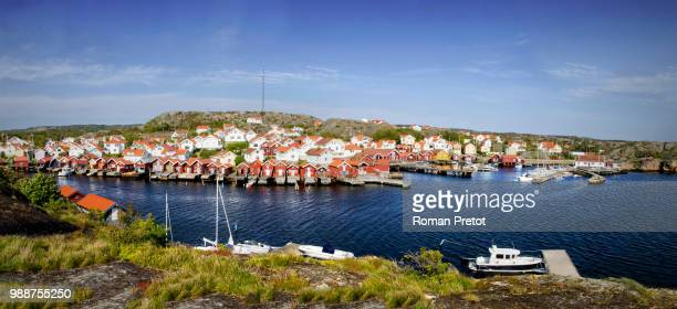 swedish fishing village - roman pretot stock-fotos und bilder