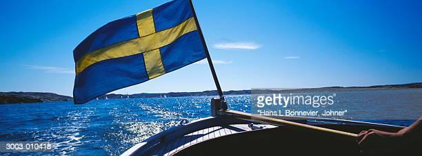 Swedish Flag on Stern