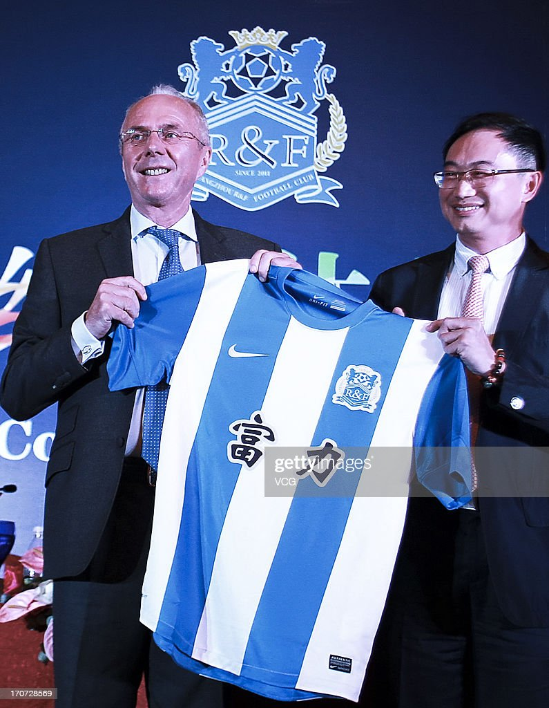 Sven-Goran Eriksson Signs With Guangzhou R&F F.C.