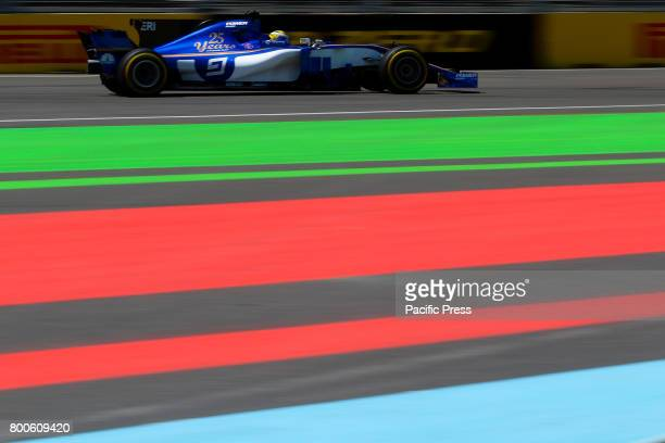 Swedish Formula One driver Marcus Ericsson of Sauber F1 Team in action during the third practice session of the Formula One Grand Prix of Azerbaijan...