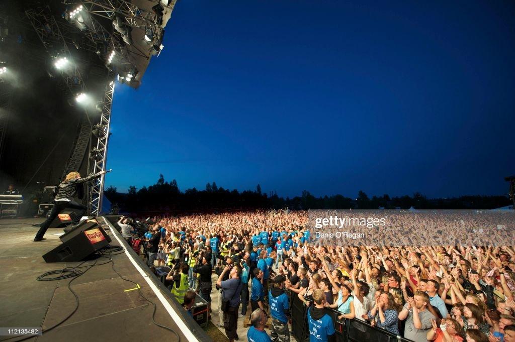 Swedish hard rock band Europe live in Sweden, June 2010.