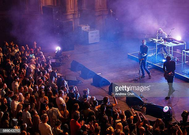 Swedish indie pop band Miike Snow performs onstage at Orpheum Theatre on August 12 2016 in Vancouver Canada