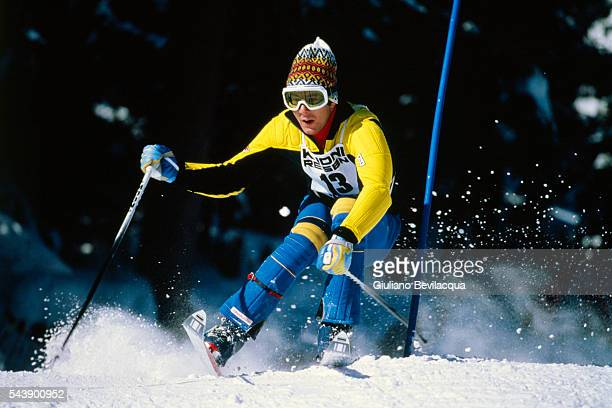 Swedish Ingemar Stenmark during a World Cup Slalom
