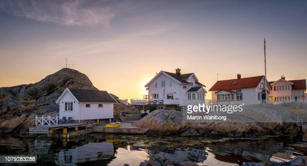 swedish island summer homes - swedish culture stock pictures, royalty-free photos & images