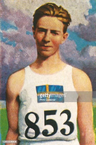 Swedish javelinthrower Erik Lundquist 1928 Lundqvist won gold medal in the javelin throw at the 1928 Summer Olympics held in Amsterdam From Die Welt...