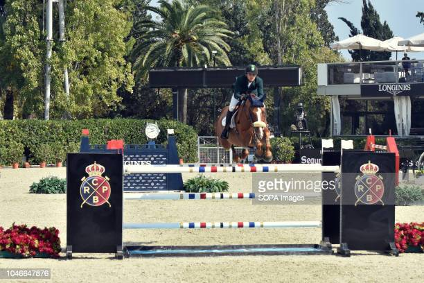 Swedish jockey Stephanie Holmen during her participation in the Queen's Cup Segura Viudas during the CSIO Barcelona 2018 at the Real Club de Polo de...