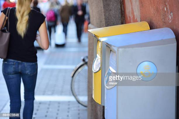 Swedish mailboxes on Kungsgatan in central Stockholm