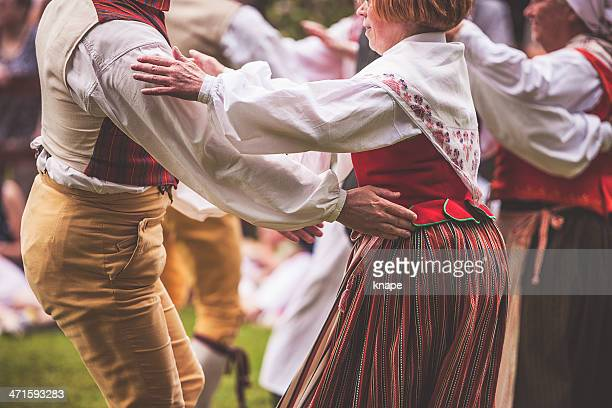 swedish midsummer celebration - midsummer sweden stock pictures, royalty-free photos & images