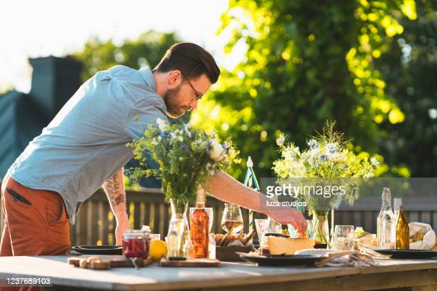 swedish midsummer food - midsommar stock pictures, royalty-free photos & images