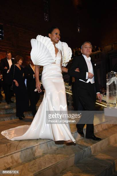 Swedish Minister for culture Alice Bah Kuhnke and Kazuo Ishiguro laureate of the Nobel Prize in Literature attend the Nobel Prize Banquet 2017 at...