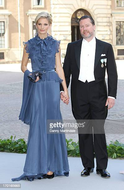 Swedish model Vicky Andren and Gustaf Magnuson attend the wedding of Princess Madeleine of Sweden and Christopher O'Neill hosted by King Carl Gustaf...
