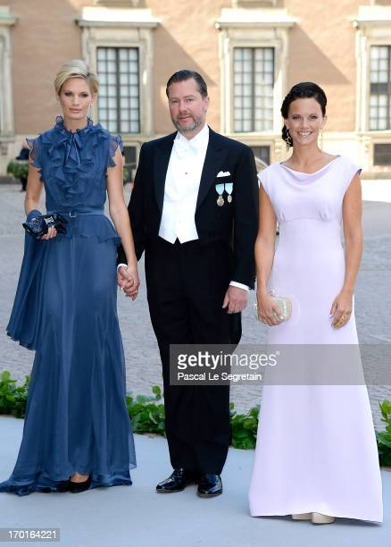 Swedish model Vicky Andren Gustaf Magnuson and Sofia Hellqvist attend the wedding of Princess Madeleine of Sweden and Christopher O'Neill hosted by...