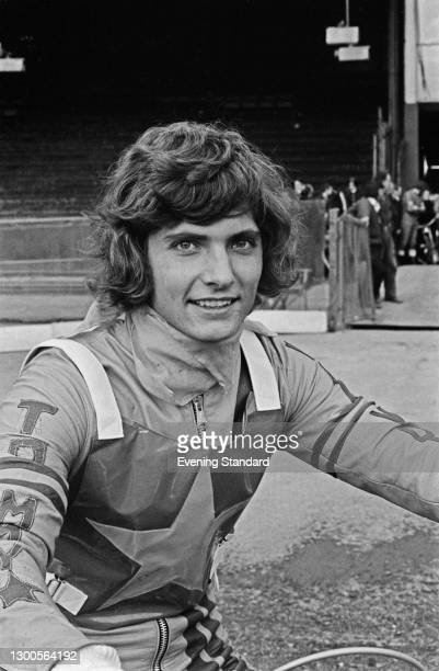 Swedish motorcycle speedway rider Tommy Jansson , UK, 19th March 1973.