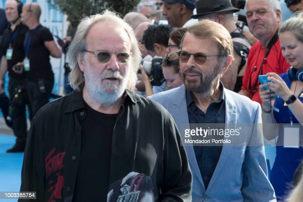 Swedish musician Benny Andersson and Björn Ulvaeus attends the Mamma Mia Here we go again musical world premiere London July 16th 2018