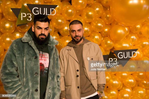 Swedish musician Parham and a friend arrive at the P3 Guld Gala Swedish Radio's celebration of the best in Swedish Music on January 20 2018 at...