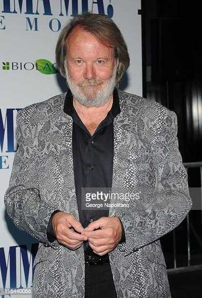 Swedish musician/composer Benny Andersson attends the premiere of Mamma Mia at the Ziegfeld Theatre on July 16 2008 in New York City